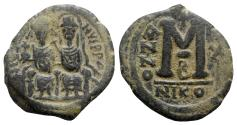 Ancient Coins - Justin II and Sophia (565-578). Æ 40 Nummi - Nicomedia