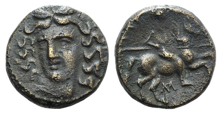 Ancient Coins - Thessaly, Larissa, c. 337-3rd century BC. Æ Dichalkon