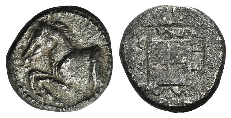 Ancient Coins - Thrace, Maroneia, c. 495-450 BC. AR Didrachm RARE