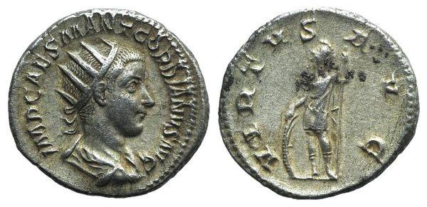 Ancient Coins - Gordian III (238-244). AR Antoninianus, Rome, 238/9.  R/ Virtus
