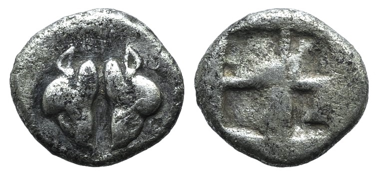 Ancient Coins - Lesbos, Unattributed early mint, c. 500-450 BC. BI 1/24 Stater