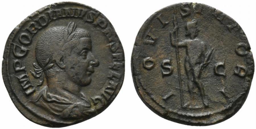 Ancient Coins - Gordian III (238-244). Æ Sestertius. Rome, 241-3.  R/ JUPITER