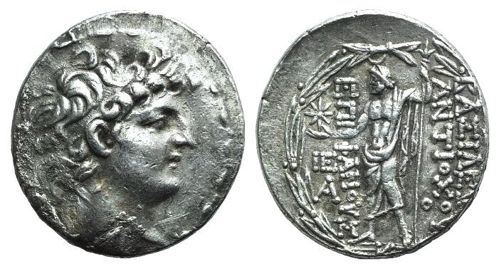 Ancient Coins - Seleukid Kings, Antiochos VIII (121/0-97/6 BC). AR Tetradrachm. Antioch, c. 121/0-113.