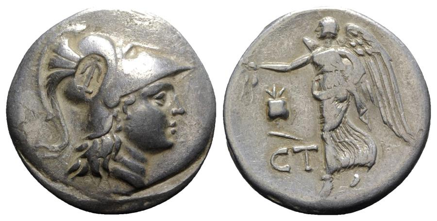 Ancient Coins - Pamphylia, Side, c. 200-190 BC. AR Tetradrachm R/ NIKE