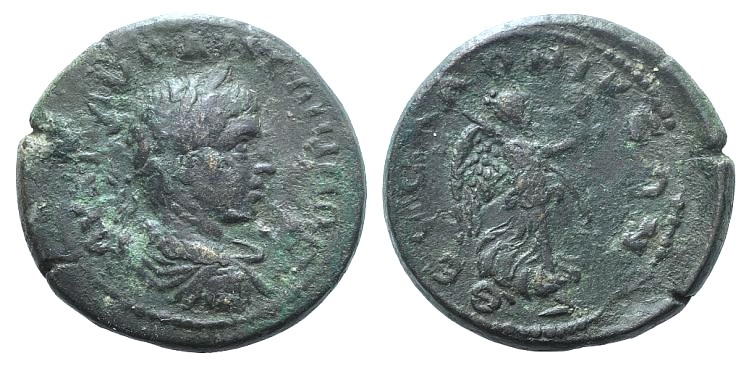 Ancient Coins - Caracalla (198-217). Macedonia, Thessalonica. AE 28mm