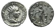 Ancient Coins - Trebonianus Gallus (251-253). AR Antoninianus. Rome, AD 253. R/ Apollo Salutaris