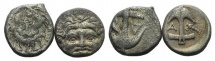 World Coins - Thrace, Apollonia Pontika, lot of 2 AR Drachms
