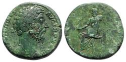 Ancient Coins - Marcus Aurelius (161-180). Æ Sestertius - Rome - R/ Jupiter