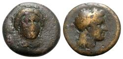 Ancient Coins - Bruttium, Medma, 4th century BC. Æ - VERY RARE