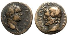 Ancient Coins - Vespasian (69-79). Macedon, Cassandrea. Æ - R/ Head of Zeus-Ammon
