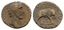 Ancient Coins - Antoninus Pius (138-161). Æ As - R/ Elephant