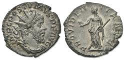 Ancient Coins - Postumus (260-269). AR Antoninianus. Treveri, 263-5.  R/ PROVIDENTIA