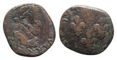World Coins - France, Henry IV (1589-1610). Æ Double Tournois, 1594
