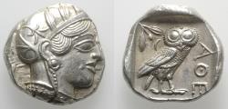Ancient Coins - Attica, Athens, c. 454-404 BC. AR Tetradrachm. R/ OWL Good EXTREMELY FINE