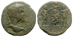 Ancient Coins - Caracalla (198-217). Cilicia, Seleucia ad Calycadnum. Æ Tetrassarion - R/ Infant Zeus