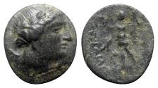 Ancient Coins - Kings of Thrace, Kavaros ? (c. 230/25-218 BC). Æ - Apollo / Nike