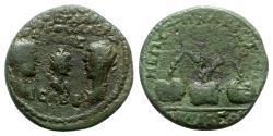 Ancient Coins - Valerian I with Gallienus and Valerian II Caesar (253-260). Bithynia, Nicaea. Æ Tetrassarion - RARE
