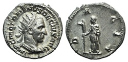 Ancient Coins - Trajan Decius (249-251). AR Antoninianus. Rome, AD 250. R/ DACIA