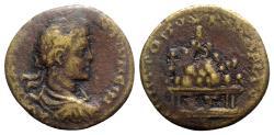 Ancient Coins - Elagabalus (218-222). Cappadocia, Caesarea. Æ