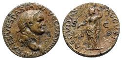 Ancient Coins - Vespasian (69-79). Æ As - Lugdunum - R/ Aequitas