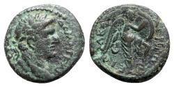 Ancient Coins - Domitian (81-96). Judaea, Caesarea Paneas. Æ - year 24 - R/ Nike