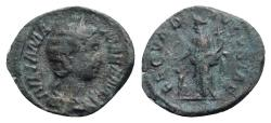 Ancient Coins - Julia Mamaea (Augusta, 222-235). Fourrèe Denarius - R/ Fecunditas