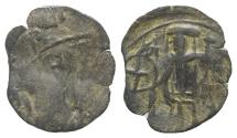 Ancient Coins - Andronicus II Palaeologus (1282-1328). Æ Trachy. Thessalonica. RARE
