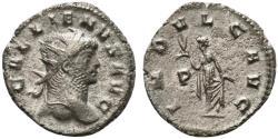 Ancient Coins - Gallienus (253-268). Antoninianus. Rome, 265-7. R/ Indulgentia