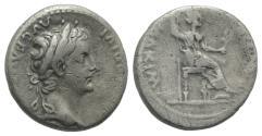 """Ancient Coins - Tiberius. AD 14-37. AR Denarius. """"Tribute Penny"""" type. Lugdunum (Lyon) mint."""