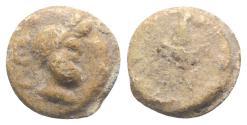 Ancient Coins - Roman PB Tessera, c. 1st century BC - 1st century AD. Bust of Serapis