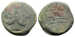 Ancient Coins - Pub. Sulla, Rome, 151 BC. Æ As