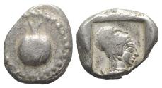 Ancient Coins - PAMPHYLIA, Side. Circa 460-430 BC. AR Stater POMEGRANATE