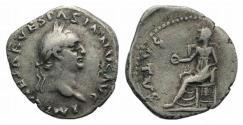 Ancient Coins - Vespasian (69-79). Contemporary counterfeit of AR Denarius. Found in Britain (Dorset). INTERESTING !