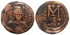 Ancient Coins - Justinian I (527-565). Æ 40 Nummi - Nicomedia, year 24