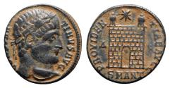 Ancient Coins - Constantine I (307/310-337). Æ Follis - Antioch - R/ Camp-gate