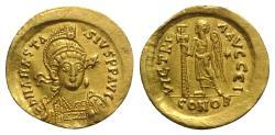 Anastasius I (491-518). GOLD Solidus. Constantinople, 492-507.