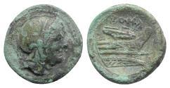 Ancient Coins - Roman Republic - Anonymous, Rome, c. 217-215 BC. Æ Quartuncia