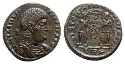 Ancient Coins - Magnentius (350-353). Æ Centenionalis - Treveri - R/ Victories