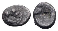 Ancient Coins - Northern Lucania, Velia, c. 535-480 BC. AR Obol - RARE
