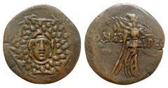 Ancient Coins - Paphlagonia, Amastris, c. 85-65 BC. Æ - Aegis / Nike