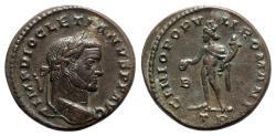 Ancient Coins - Diocletian (284-305). Æ Follis - Treveri - R/ Genius