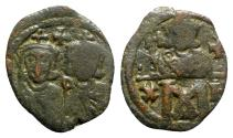 Ancient Coins - Constantine V and Leo IV (741-775). Æ 40 Nummi - Constantinople