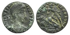 Ancient Coins - Constantius II (337-361). Æ 16mm. Thessalonica, 351-5.
