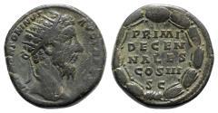 Ancient Coins - Marcus Aurelius (161-180). Æ Dupondius