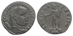 Ancient Coins - Galerius (305-311). Æ Follis. Nicomedia, 308-310. R/ GENIUS