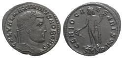 Ancient Coins - Maximinus II (Caesar, 305-309). Æ Follis. Nicomedia, 308-9. R/ GENIUS