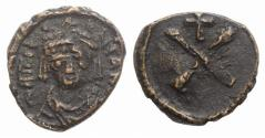 Ancient Coins - Tiberius II Constantine. 578-582. Æ 10 Nummi (Decanummium). Constantinople mint. Struck 579-582.