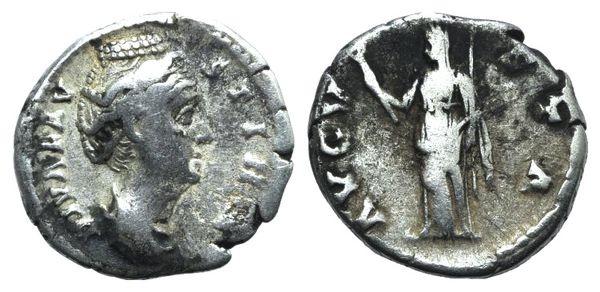 Ancient Coins - Diva Faustina Senior (died 140/1). AR Denarius. Rome, after 146.  R/ Ceres