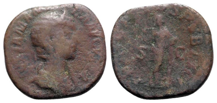 Ancient Coins - Julia Mamaea (Augusta, 222-235). Æ Sestertius  - R/ Felicitas