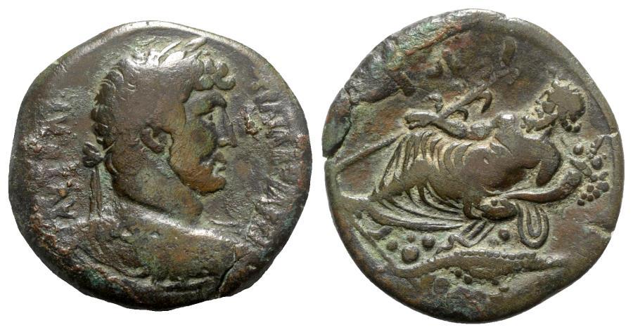 Ancient Coins - Hadrian (117-138). Egypt, Alexandria. Æ Drachm - year 16 - R/ Nilus seated